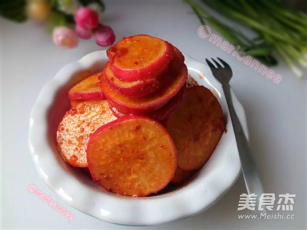 凉拌红皮萝卜成品图