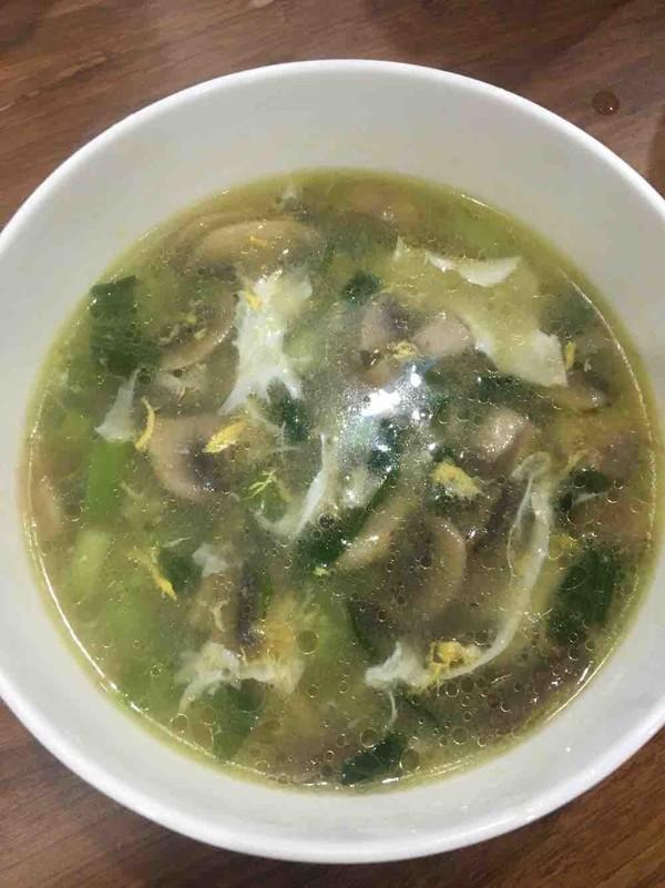 青菜蘑菇鸡蛋汤怎么炒