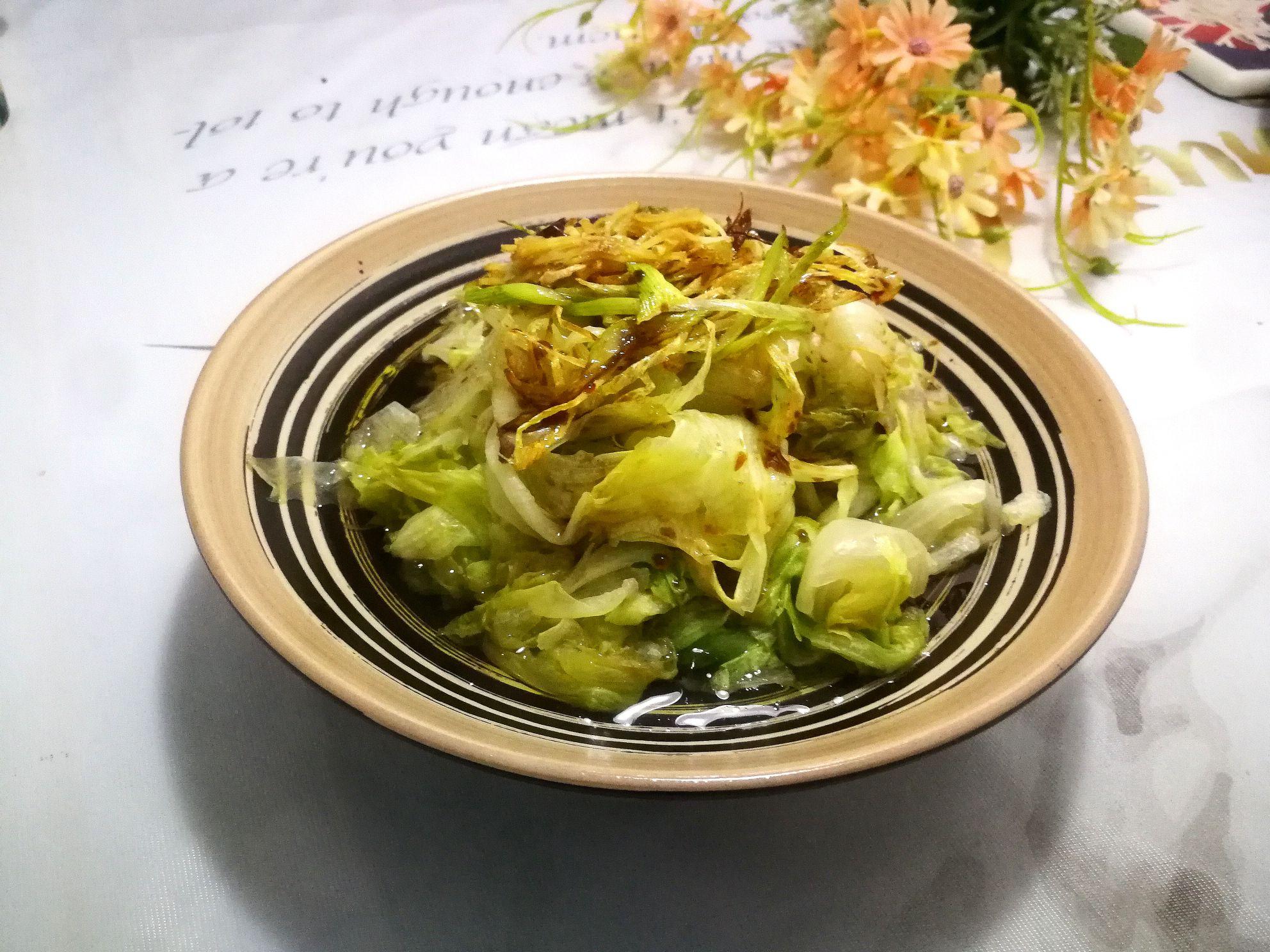 白灼生菜成品圖