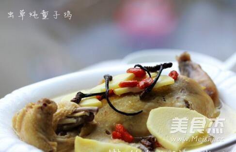 龍筵冬蟲夏草燉童子雞成品圖