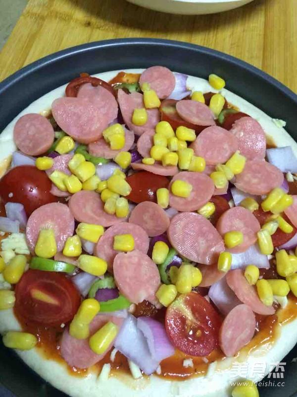 火腿肠披萨的家常做法