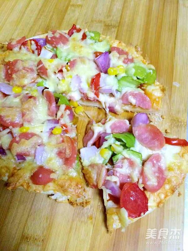 火腿肠披萨怎么做