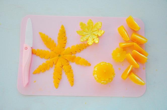 苹果橙子水果拼盘的简单做法