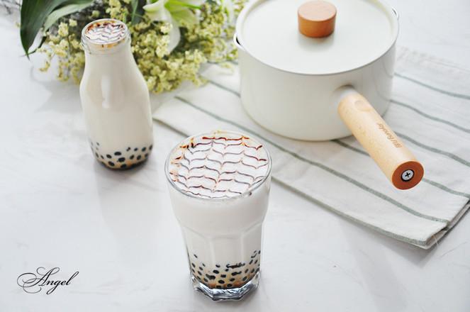 珍珠奶茶成品图