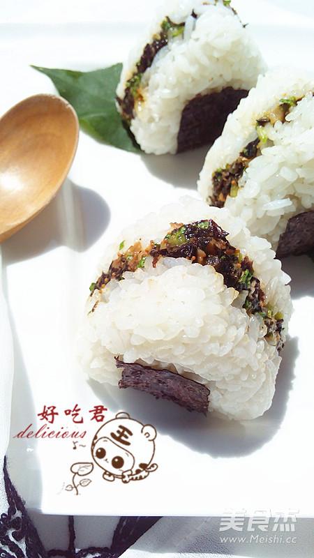 沙丁鱼饭团成品图