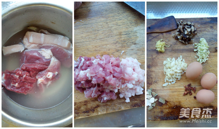 香菇卤肉饭的步骤