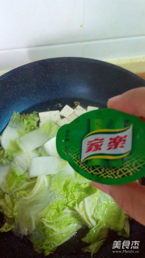 白菜炖豆腐怎么吃