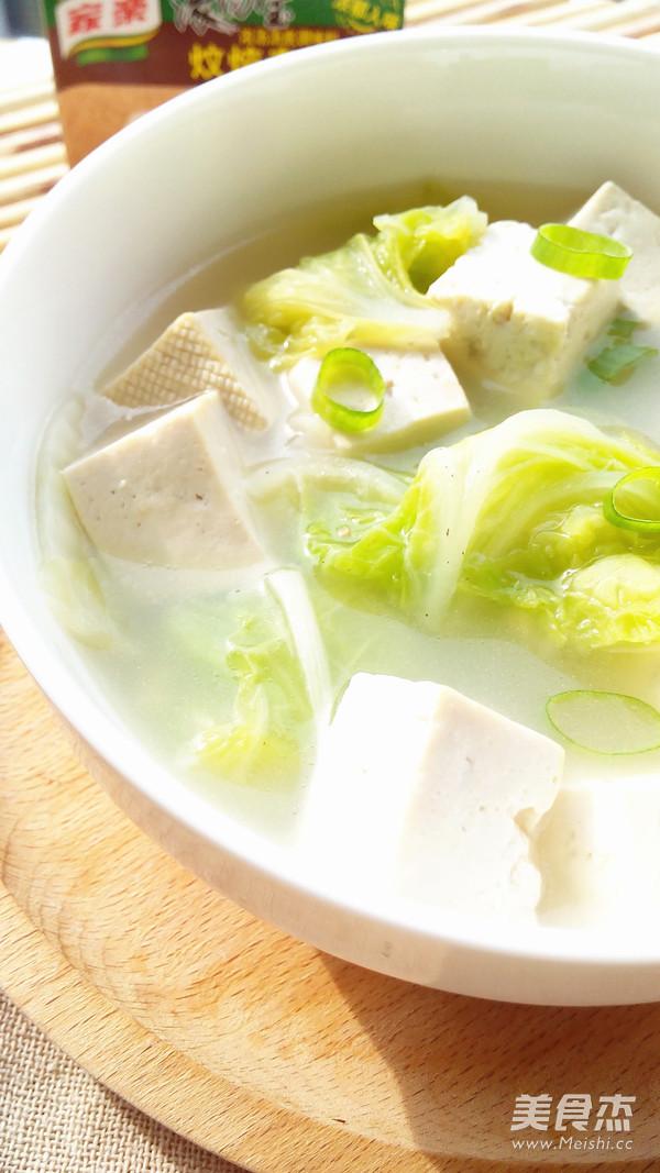 白菜炖豆腐怎么炖