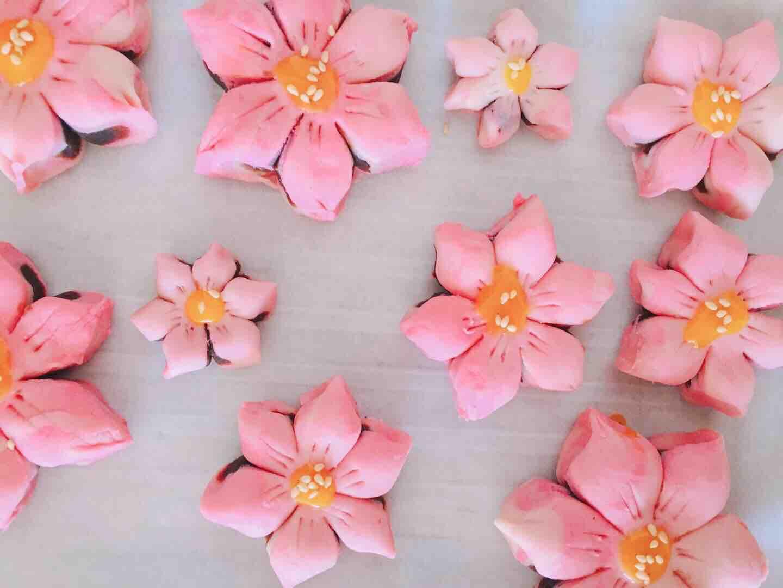 桃花酥的制作方法