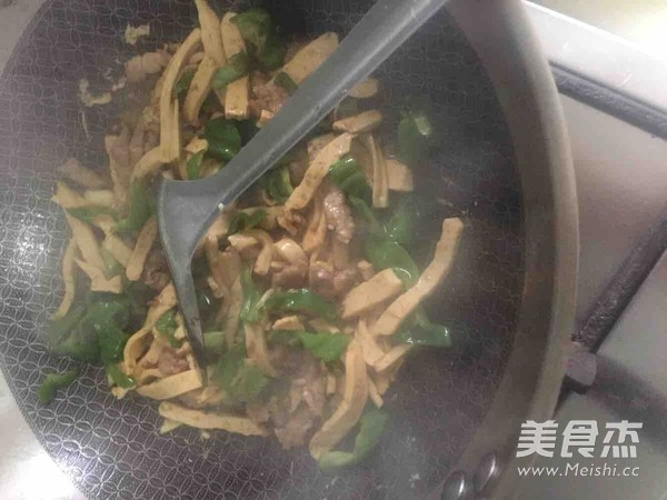 青椒肉丝豆腐干怎么炒