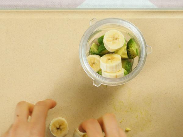 牛油果香蕉蒸糕 宝宝辅食的做法图解