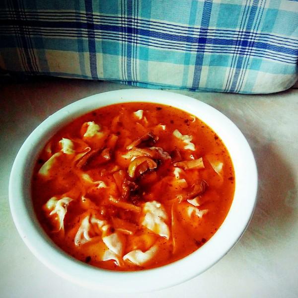 紅油榨菜餛飩成品圖