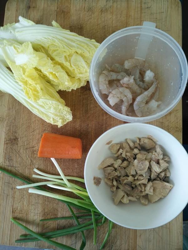 虾仁鸡肉糜砂锅粥的家常做法