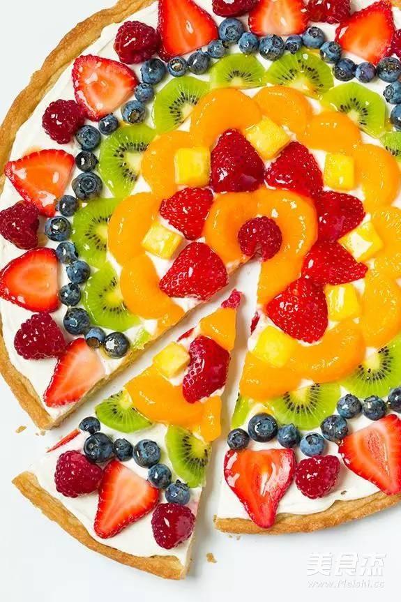 水果披萨成品图
