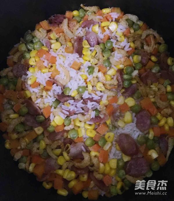 五彩饭的家常做法