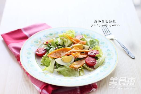 鸡蛋蔬菜沙拉成品图