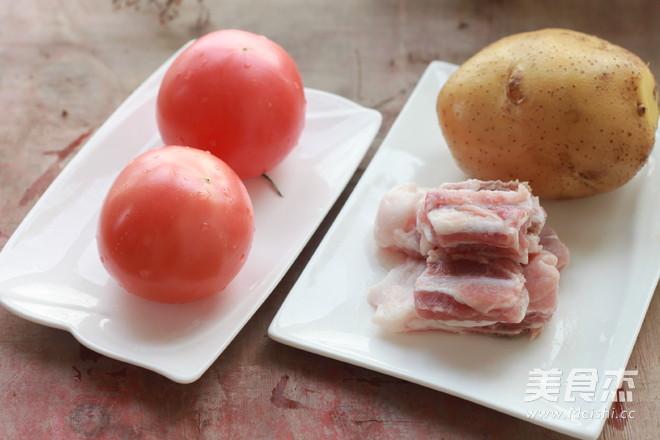 土豆番茄排骨汤的做法大全