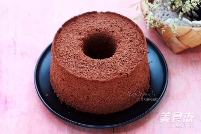 巧克力戚风蛋糕(6寸中空蛋糕)成品图
