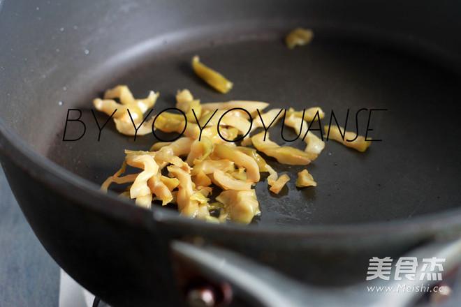 榨菜炒红薯粉皮的做法图解