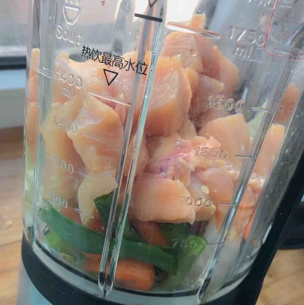 自制低脂蔬菜鸡肉肠的做法图解