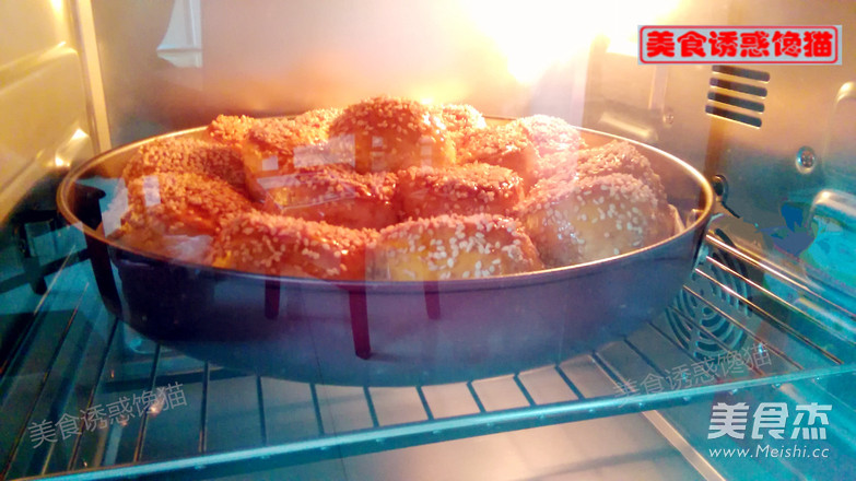花生芝麻烤包的步骤