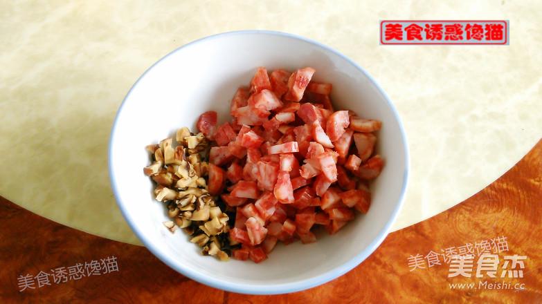 香肠彩色糯米饭的做法大全