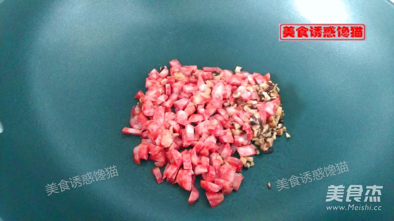 香肠彩色糯米饭怎么做