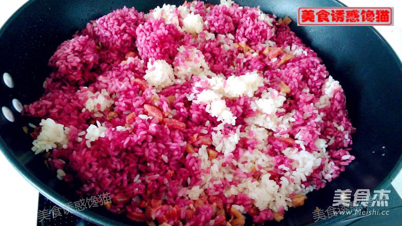 香肠彩色糯米饭怎么煮