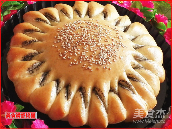 向日葵芝麻酱面包的制作