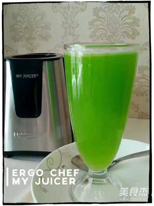 绿色饮品—苦瓜汁成品图