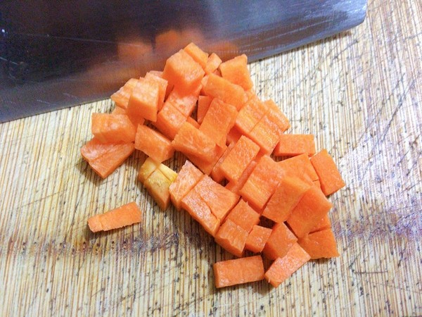 杂粒炒虾仁,多彩又可爱的做法图解