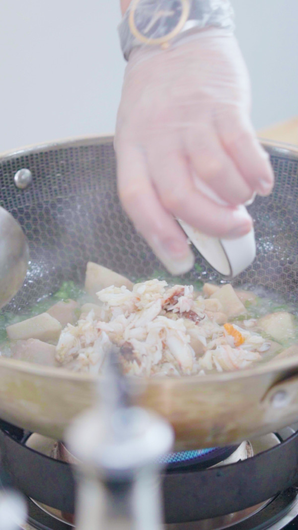 葱油芋艿蟹的简单做法