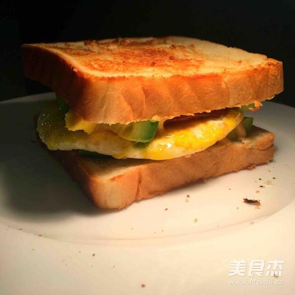 牛油果三明治的简单做法