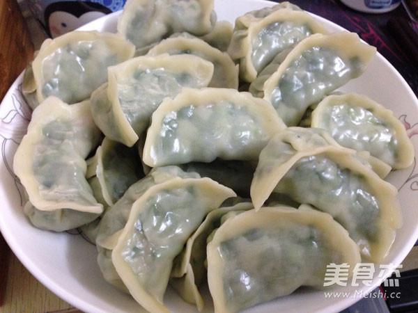 韭菜猪肉饺子成品图