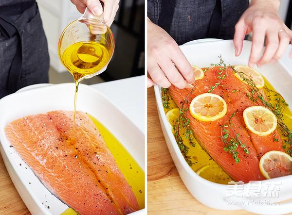 烤三文鱼的家常做法