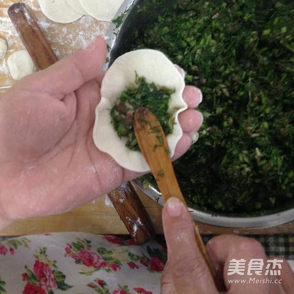 茴香猪肉水饺的制作