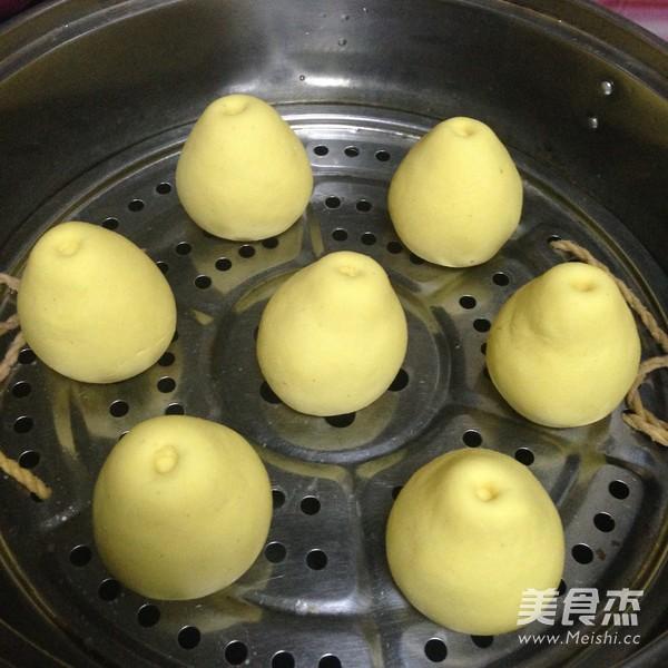 仿真梨--莲蓉包怎么煮