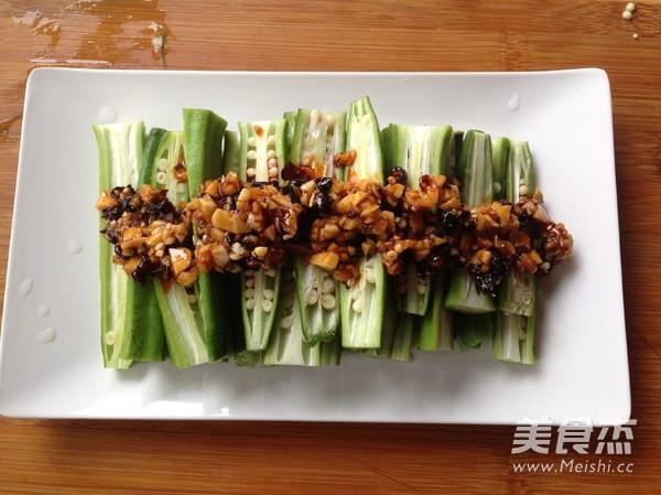 辣豆豉蒸秋葵怎么吃