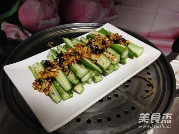 辣豆豉蒸秋葵怎么做