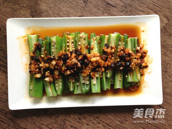 辣豆豉蒸秋葵怎么炒