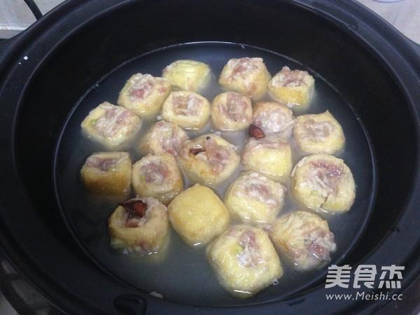 油豆腐塞肉炖白菜怎样做