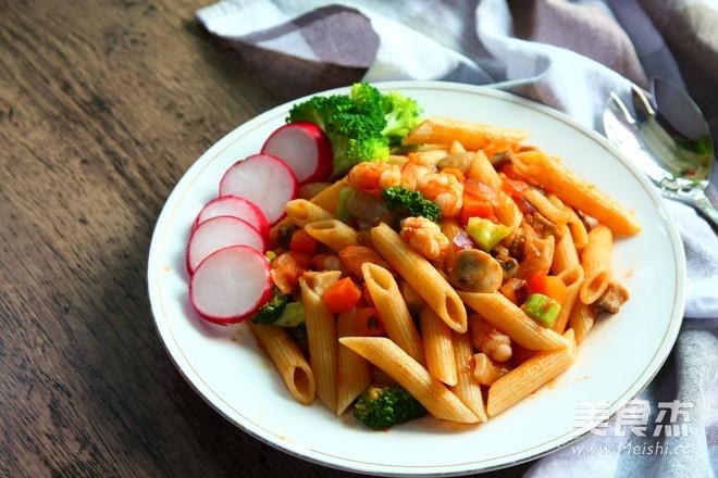 海鲜鲜蔬番茄意面怎样炒