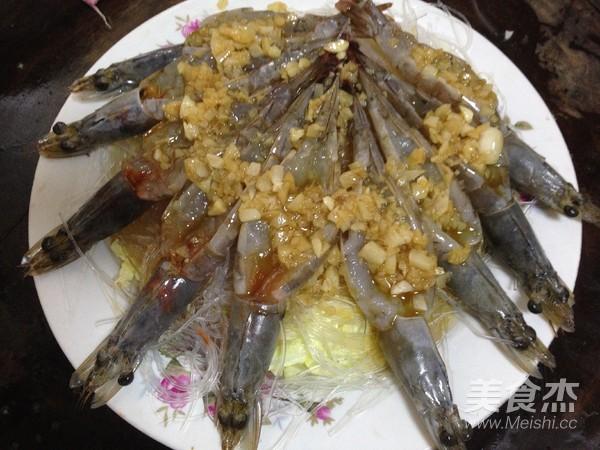 蒜蓉粉丝蒸大虾怎样炒