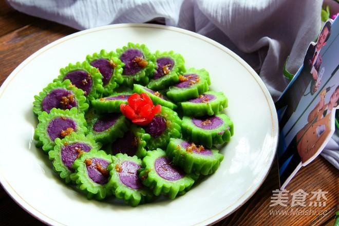 冰镇凉瓜酿紫薯成品图