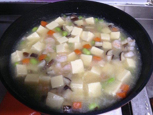 鸡蛋豆腐四鲜羹的制作方法