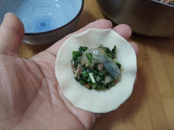 年味饺子(虾仁韭菜猪肉饺)的制作