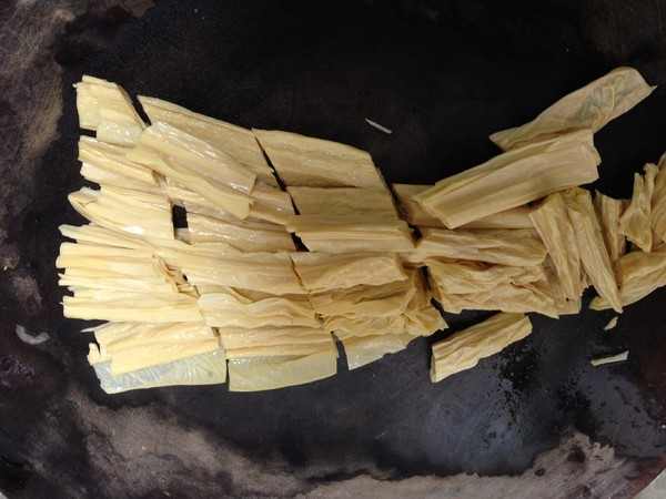 小白菜烧腐竹的做法图解