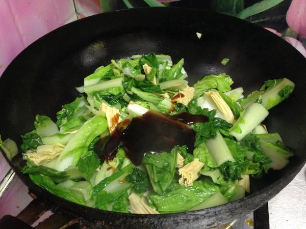 小白菜烧腐竹怎么炖