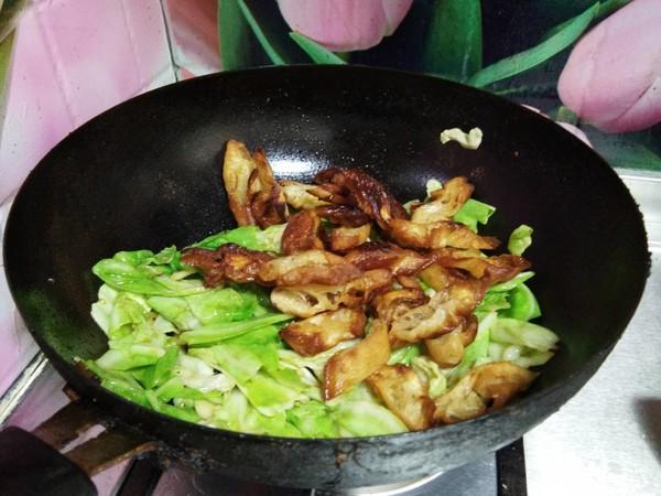 蚝油包菜炒油条怎么煮