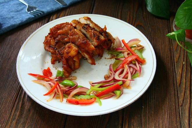 年夜饭硬菜之烤鸡腿肉成品图